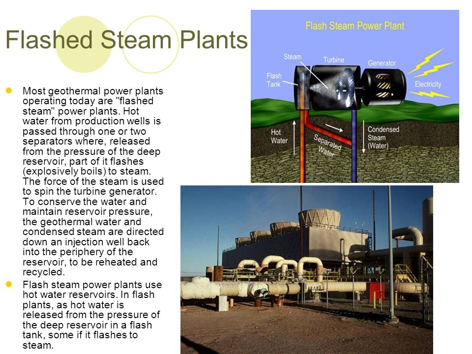 Flashed Steam Plants