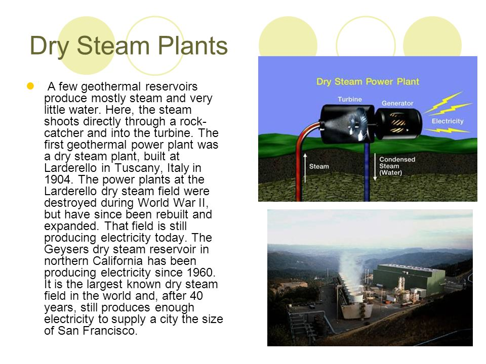 Dry Steam Plants