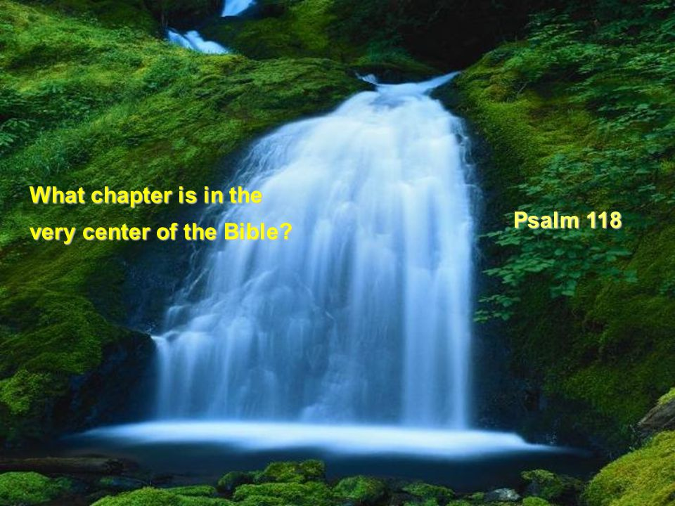 What chapter is in the very center of the Bible Psalm 118