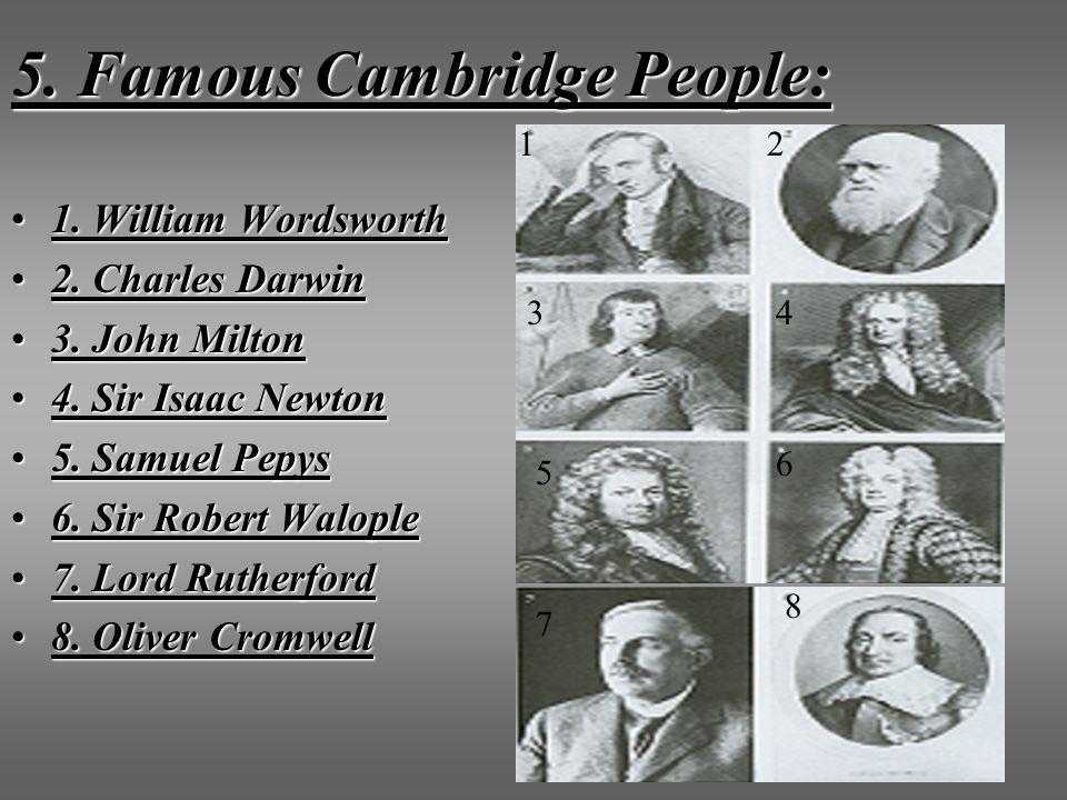 5. Famous Cambridge People:
