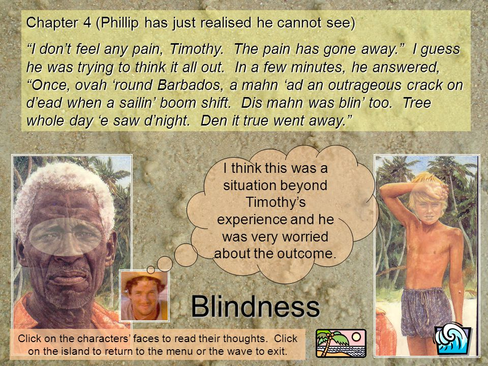 Blindness Chapter 4 (Phillip has just realised he cannot see)