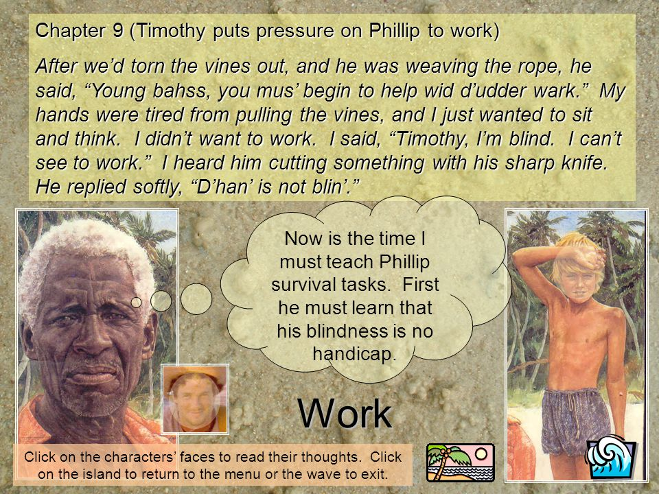 Work Chapter 9 (Timothy puts pressure on Phillip to work)