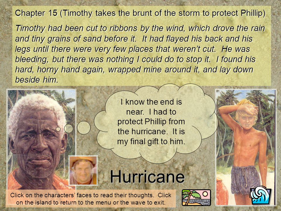 Chapter 15 (Timothy takes the brunt of the storm to protect Phillip)
