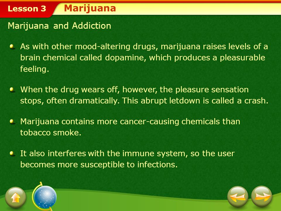 Marijuana Marijuana and Addiction