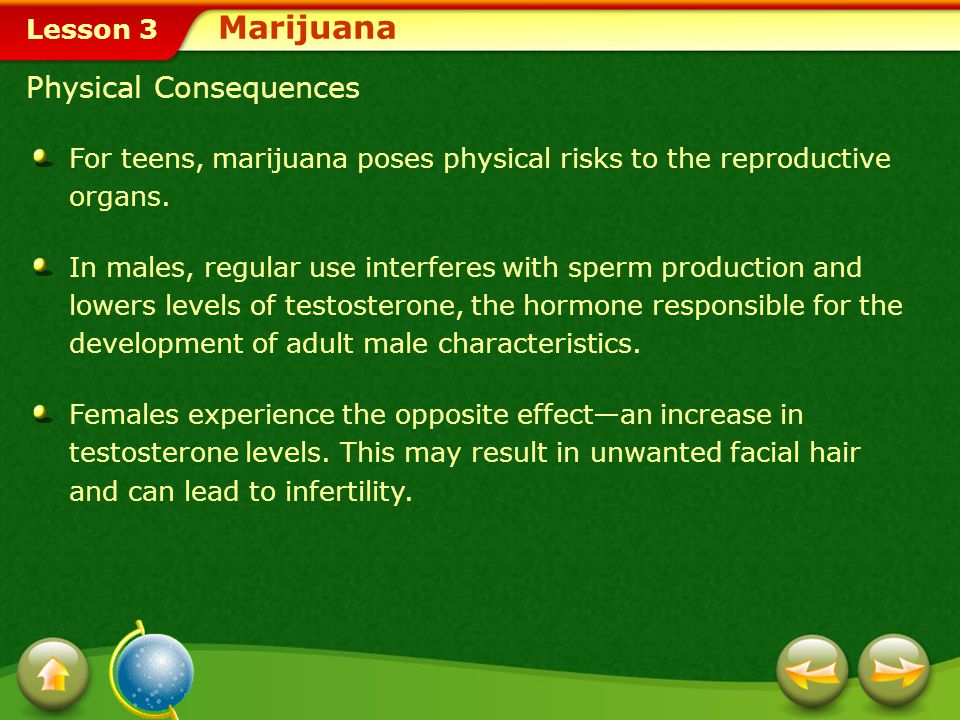 Marijuana Physical Consequences