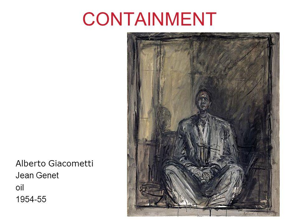 CONTAINMENT Alberto Giacometti Jean Genet oil 1954-55