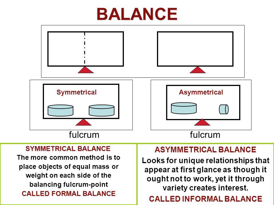 BALANCE fulcrum fulcrum ASYMMETRICAL BALANCE