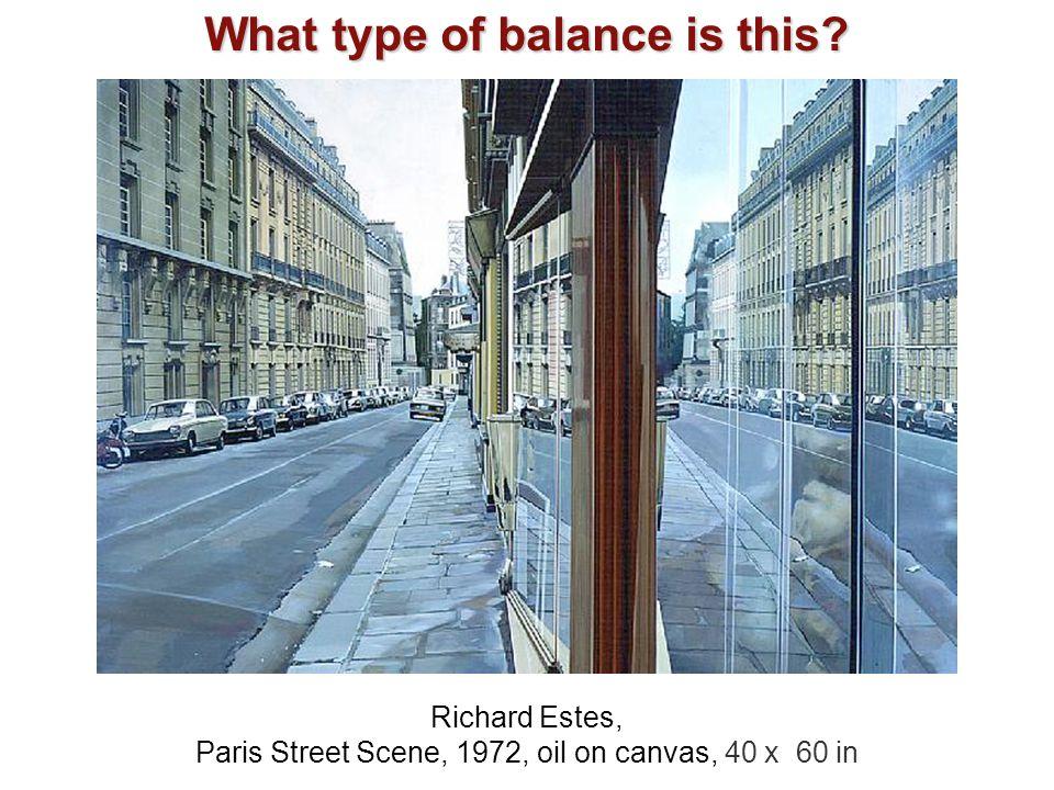 Paris Street Scene, 1972, oil on canvas, 40 x 60 in