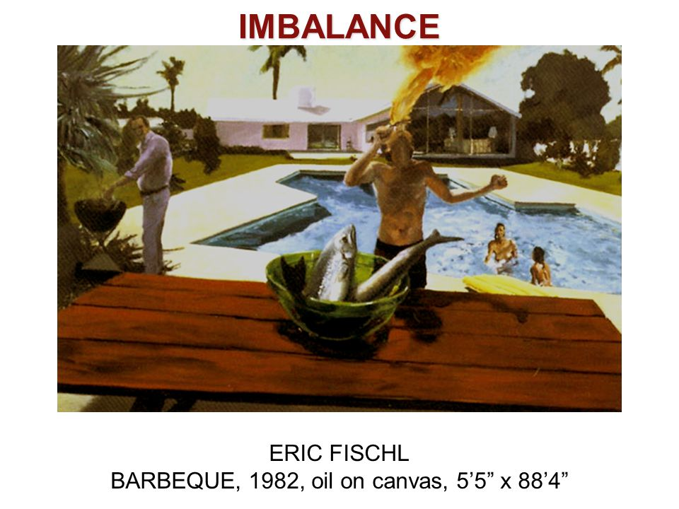 BARBEQUE, 1982, oil on canvas, 5'5 x 88'4