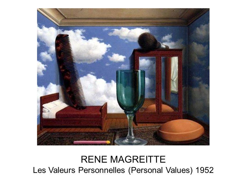 Les Valeurs Personnelles (Personal Values) 1952