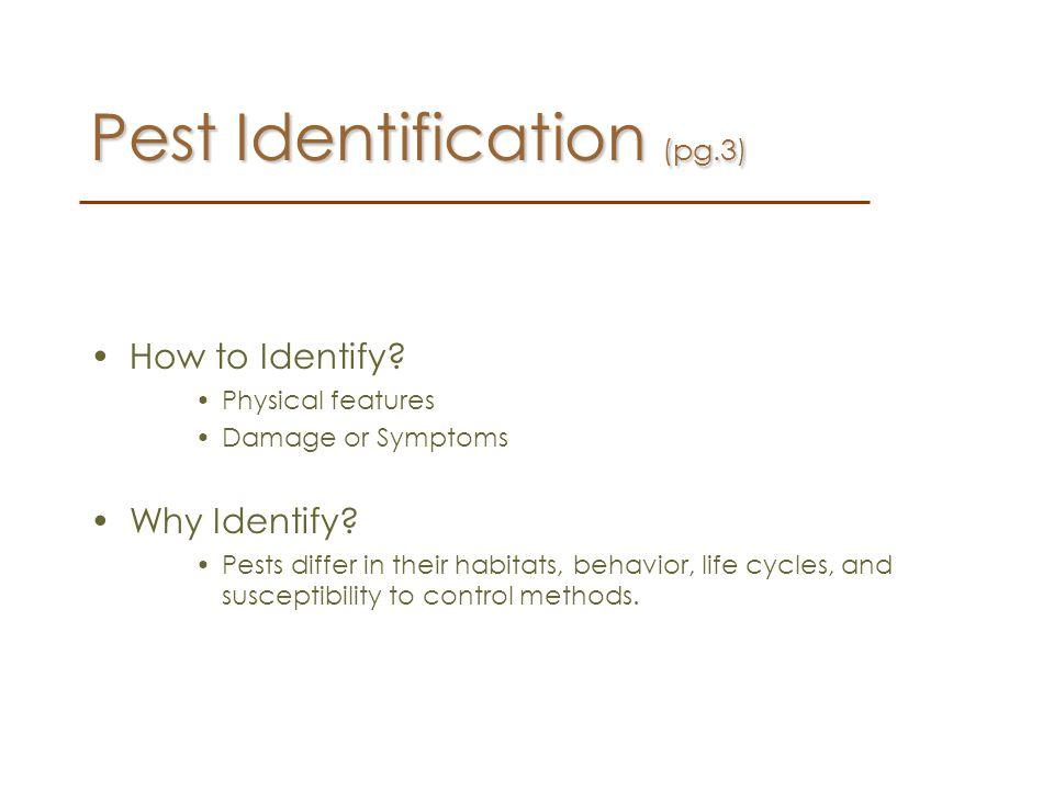 Pest Identification (pg.3)