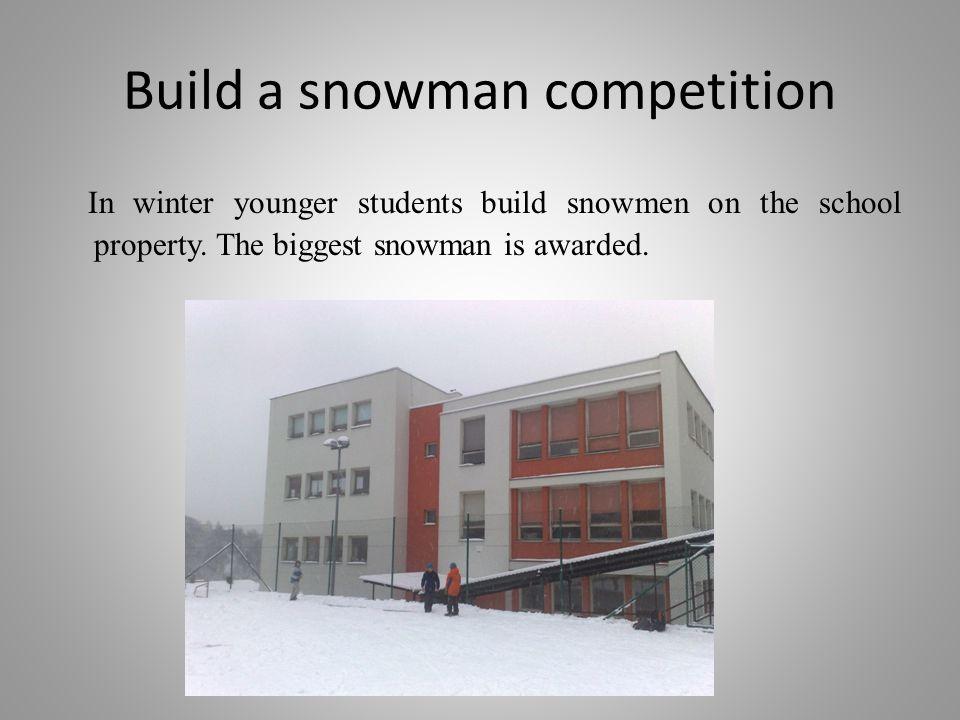 Build a snowman competition