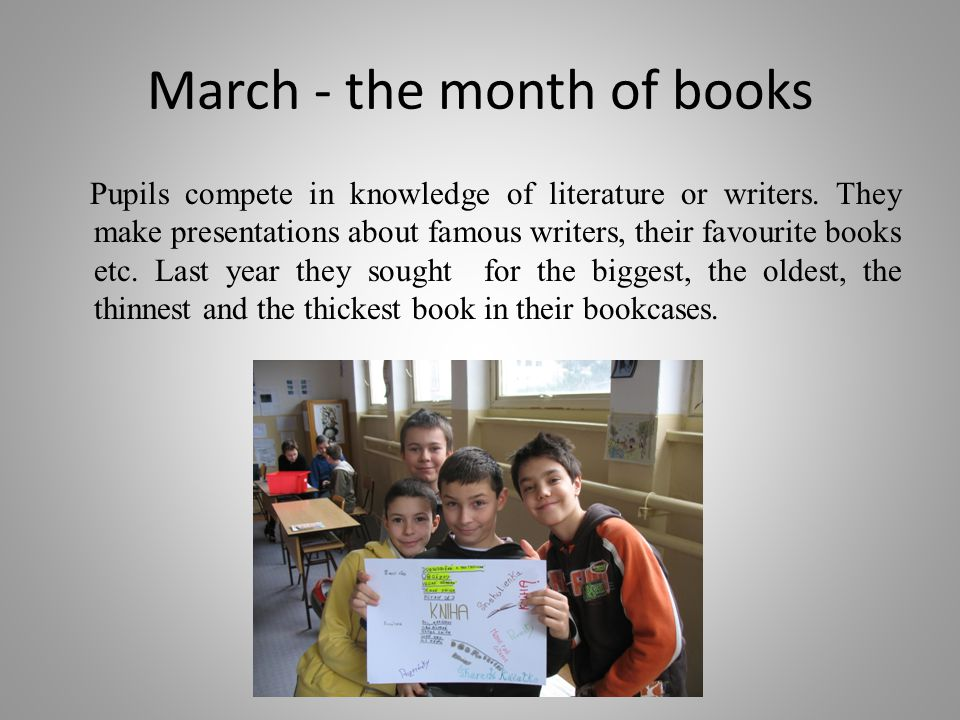 March - the month of books