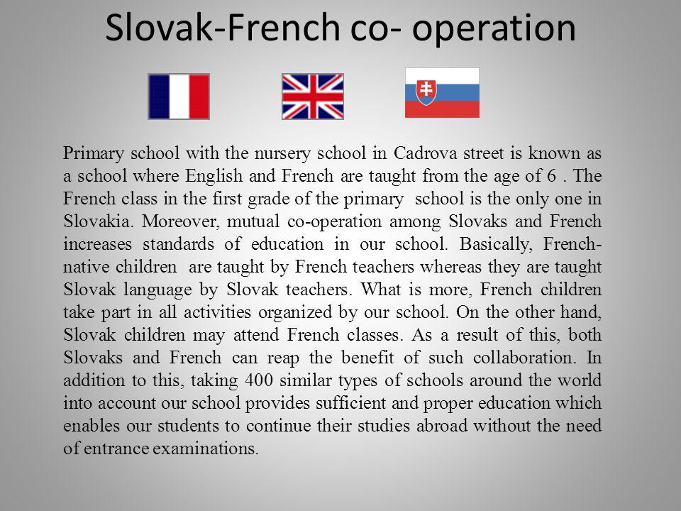Slovak-French co- operation