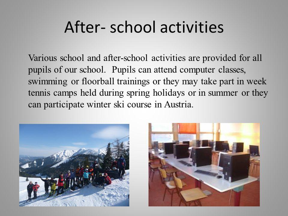After- school activities