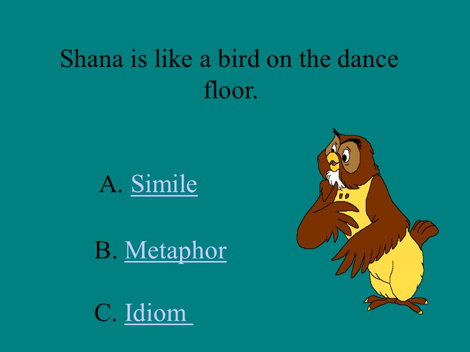 Shana is like a bird on the dance