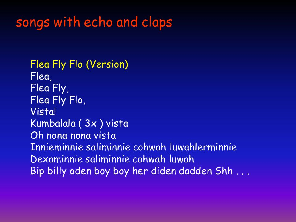 songs with echo and claps