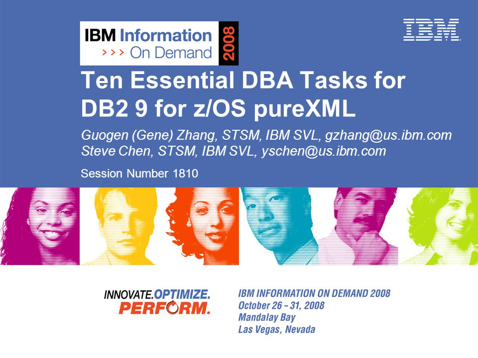 Agenda Overview of pureXML in DB2 9 for z/OS