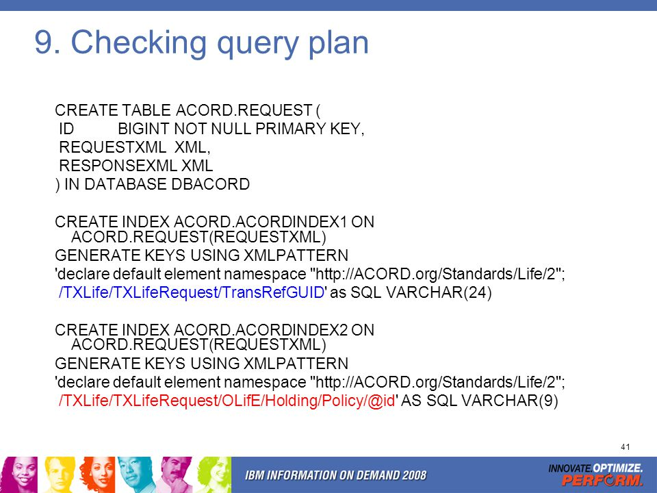 Query plan (cont'ed) http://ACORD.org/Standards/Life/2 ;
