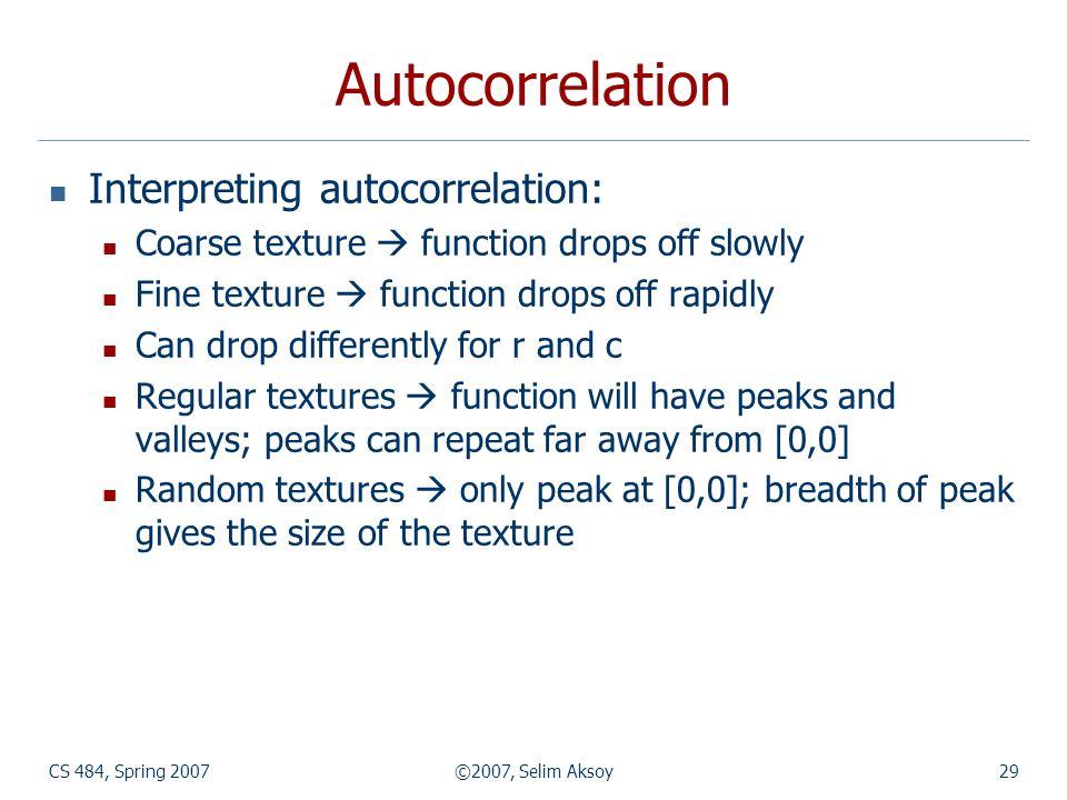 Autocorrelation Interpreting autocorrelation: