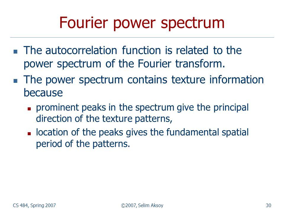 Fourier power spectrum
