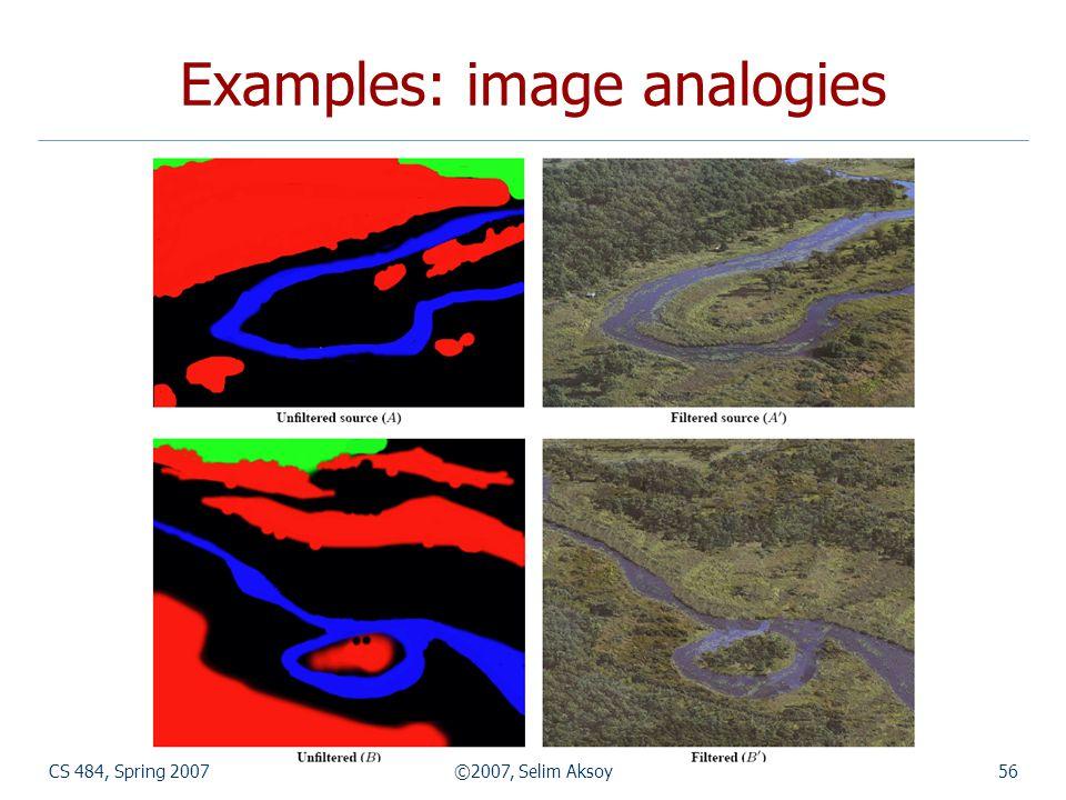Examples: image analogies