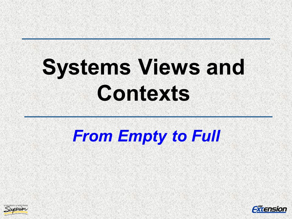 Systems Views and Contexts