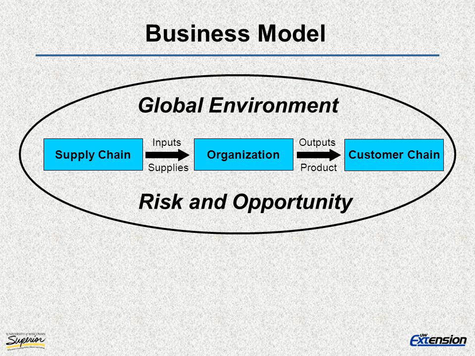 Business Model Global Environment Risk and Opportunity Supply Chain