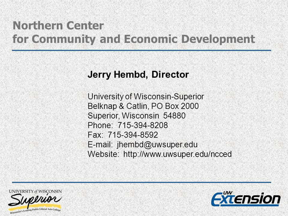 Northern Center for Community and Economic Development