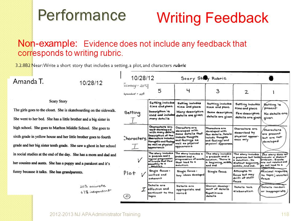 Performance Writing Feedback