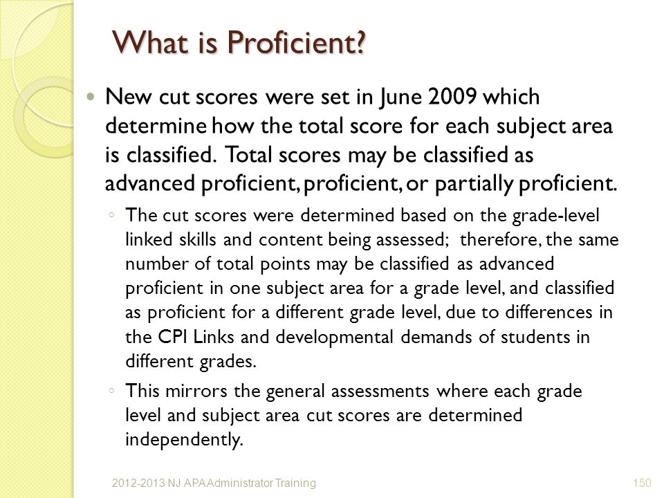 What is Proficient