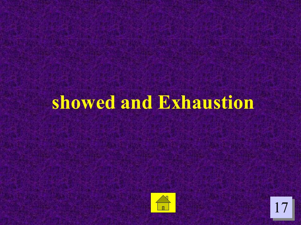 showed and Exhaustion 17