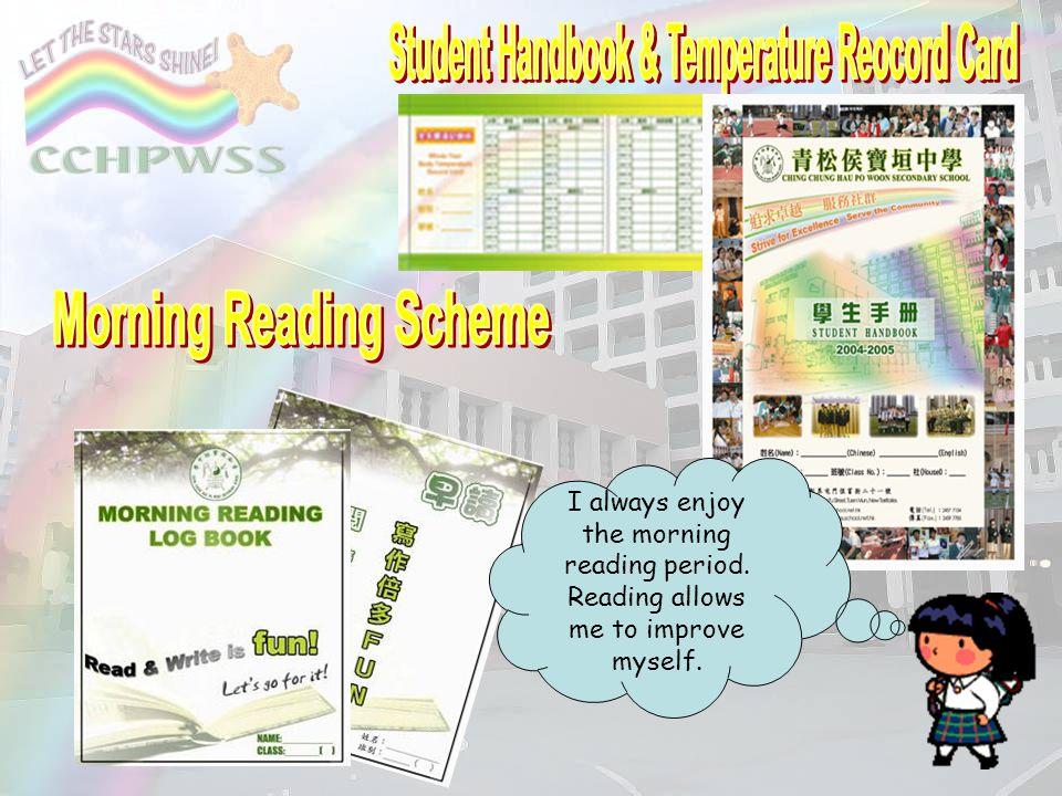 Student Handbook & Temperature Reocord Card Morning Reading Scheme