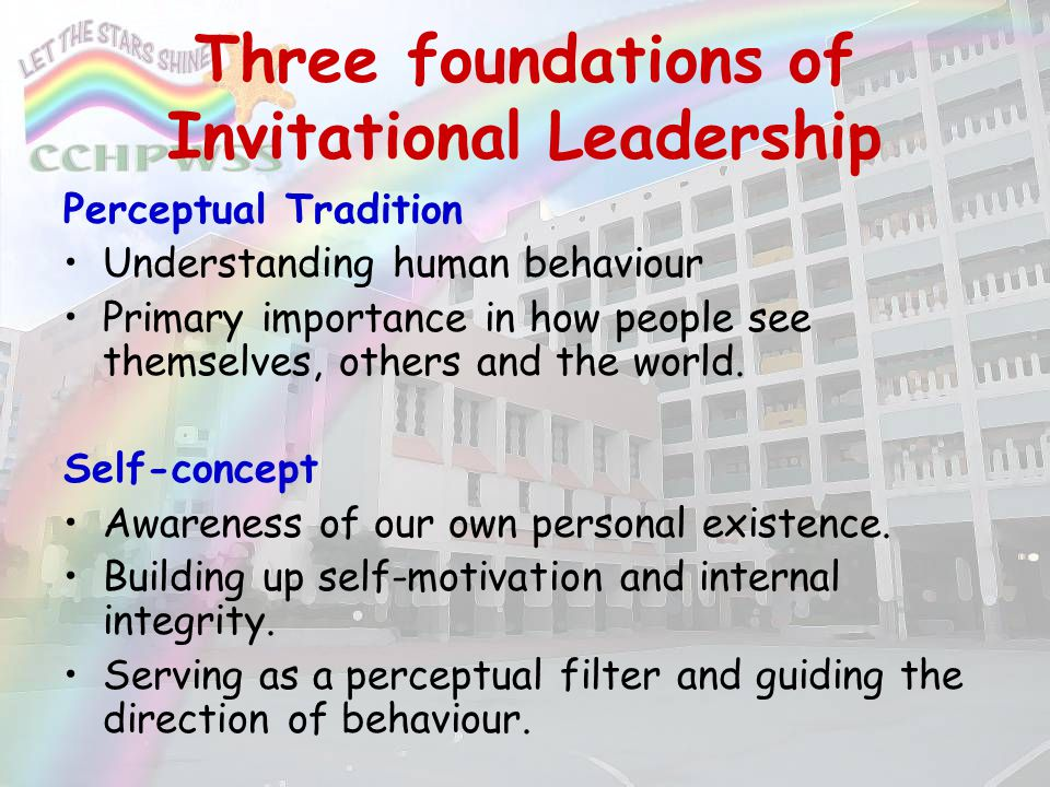 Three foundations of Invitational Leadership