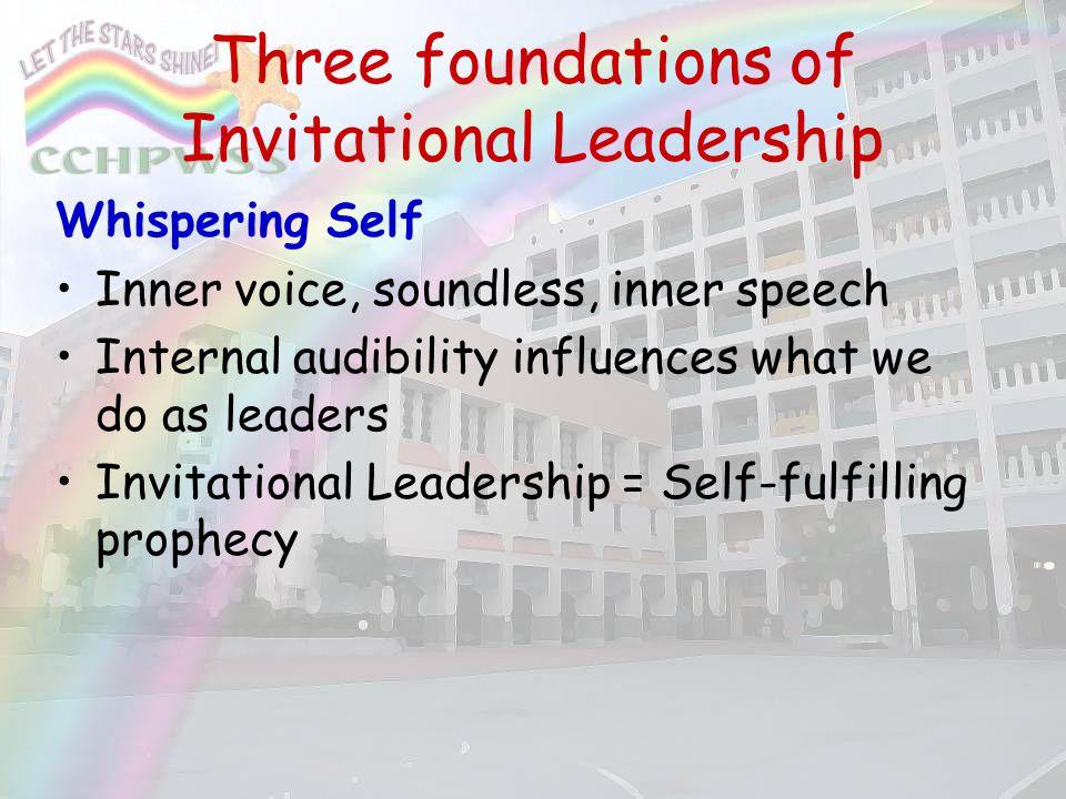 Three foundations of Invitational Leadership