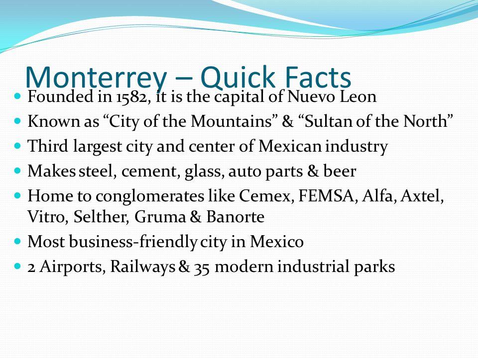 Monterrey – Quick Facts