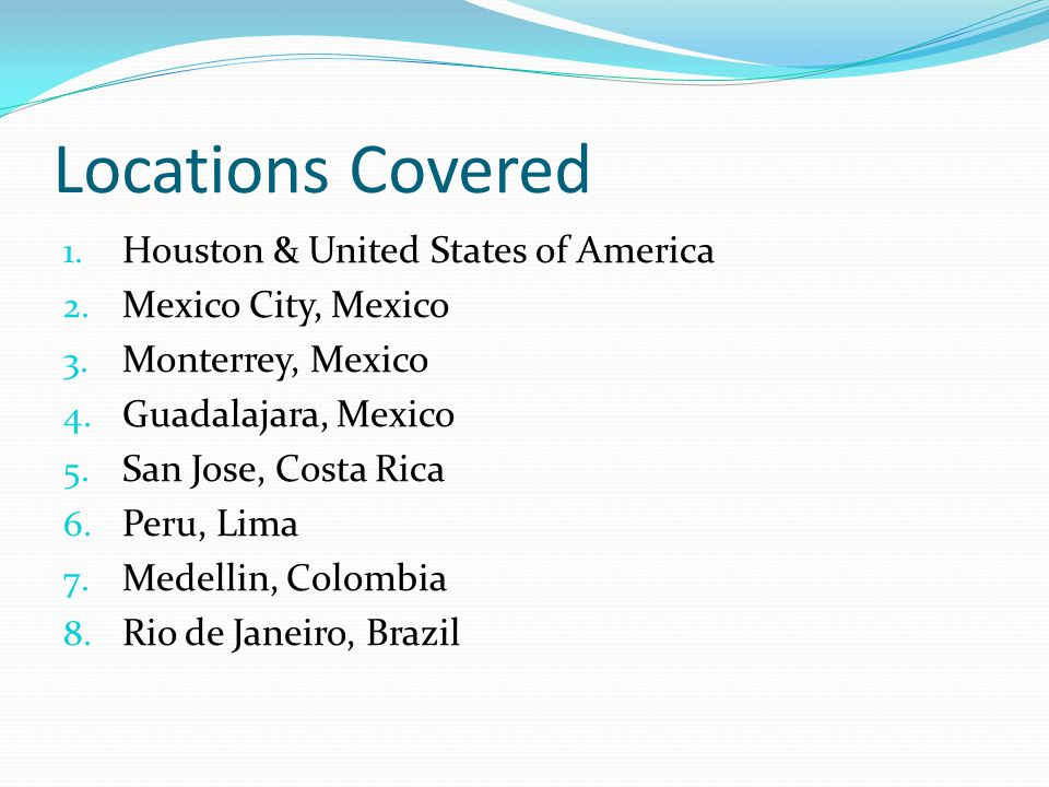 Locations Covered Houston & United States of America
