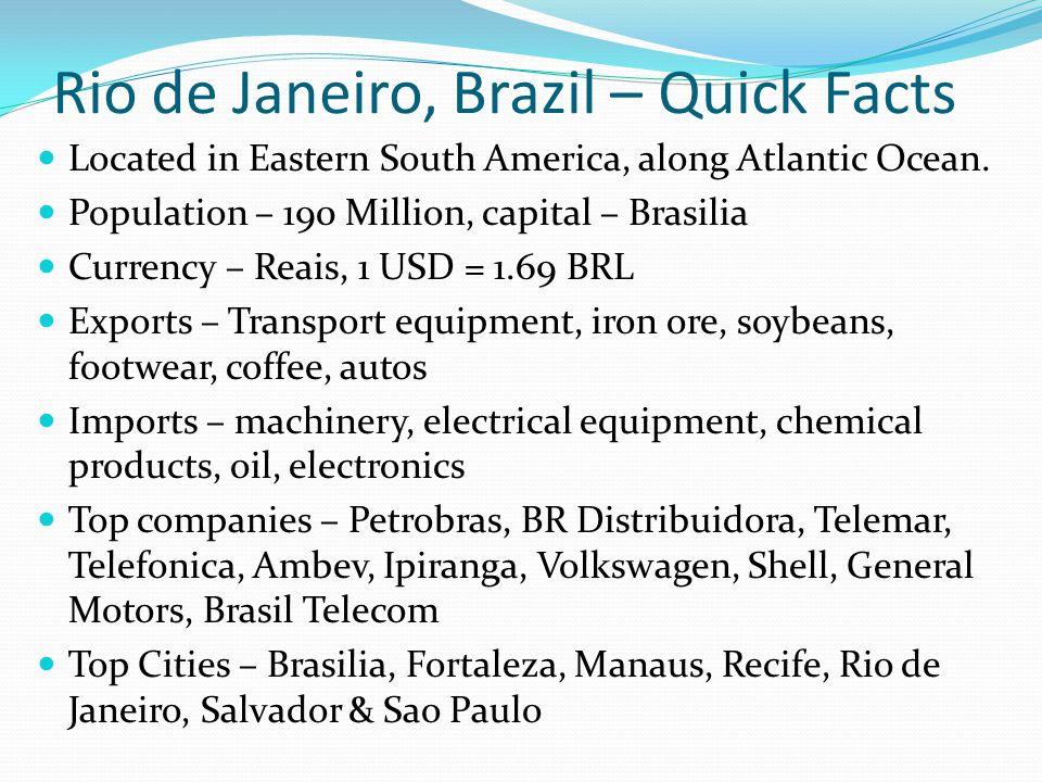 Rio de Janeiro, Brazil – Quick Facts