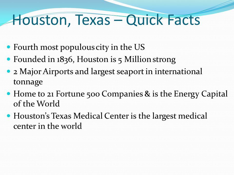 Houston, Texas – Quick Facts