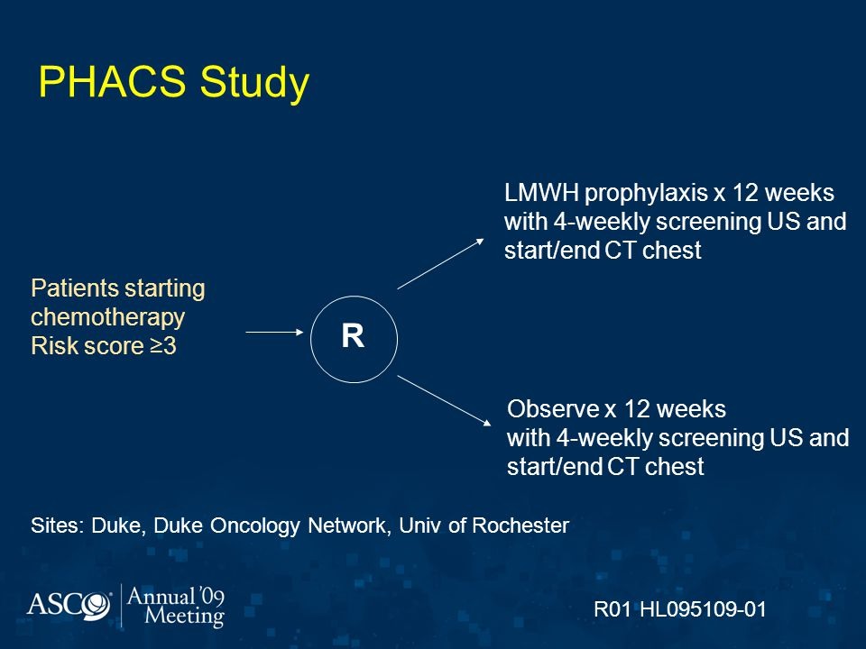 PHACS Study R LMWH prophylaxis x 12 weeks