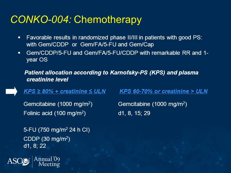 KPS 60-70% or creatinine > ULN
