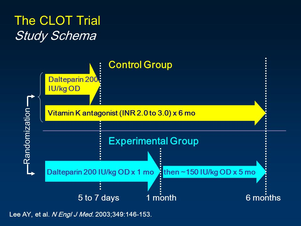 The CLOT Trial Study Schema