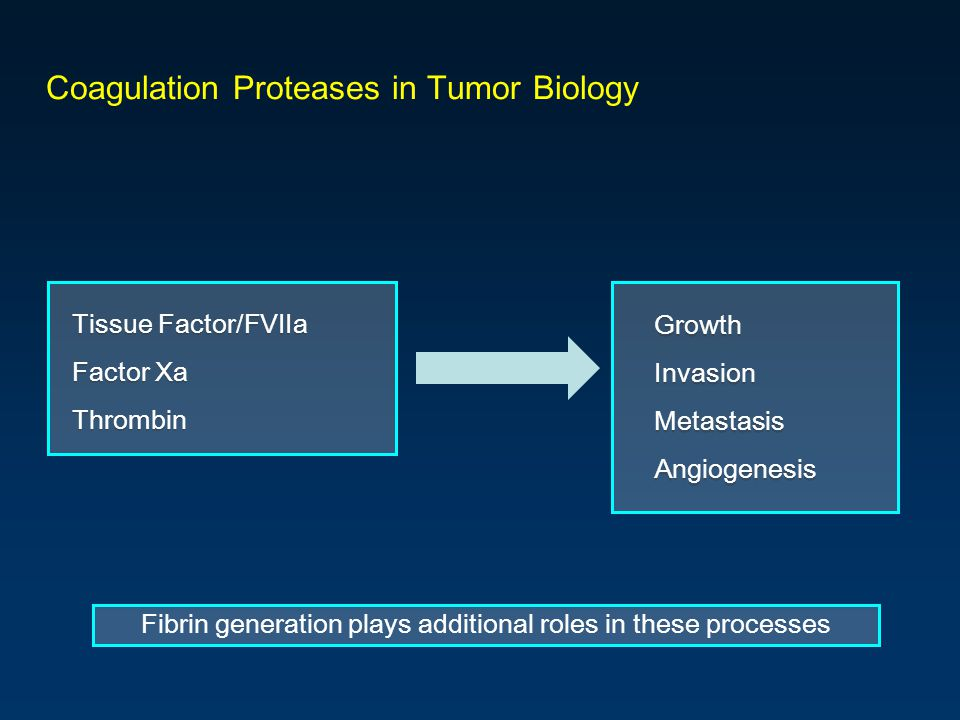 Coagulation Proteases in Tumor Biology