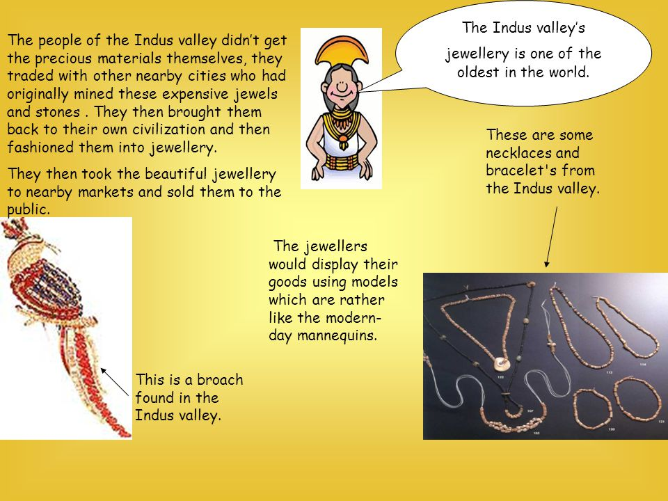 The Indus valley's jewellery is one of the oldest in the world.