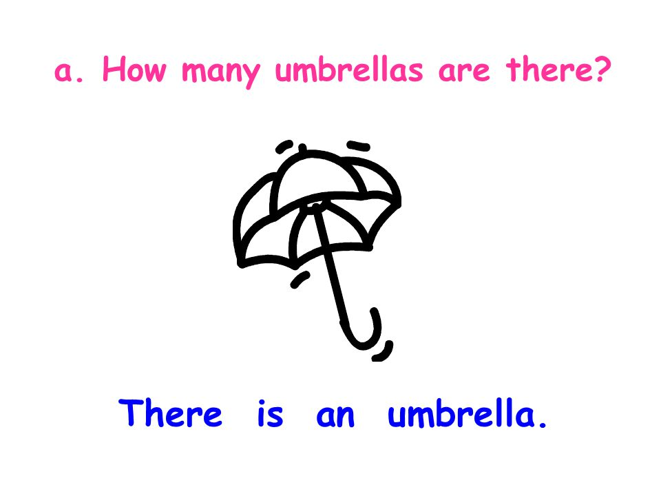a. How many umbrellas are there