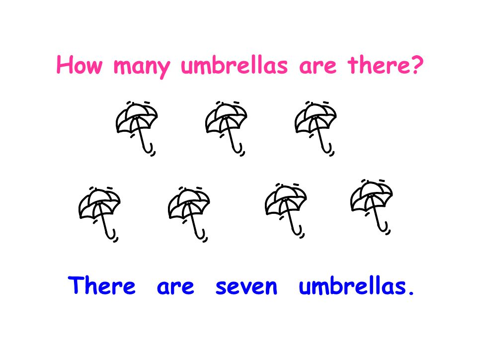How many umbrellas are there