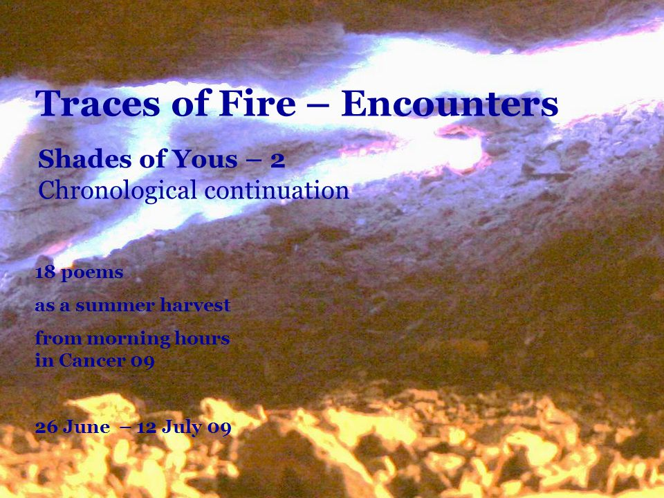 Traces of Fire – Encounters