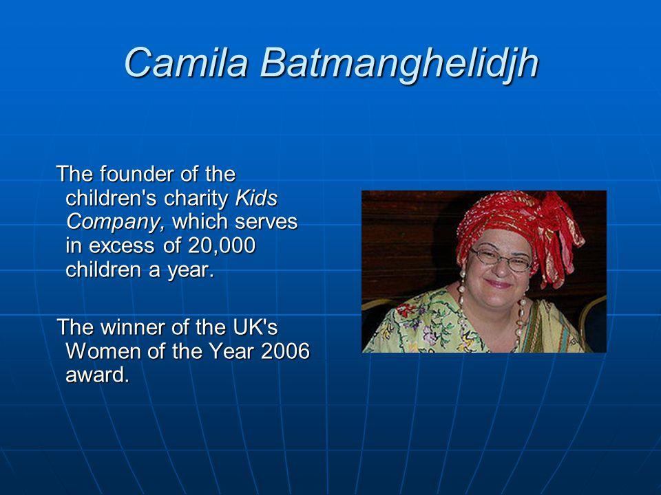 Camila Batmanghelidjh
