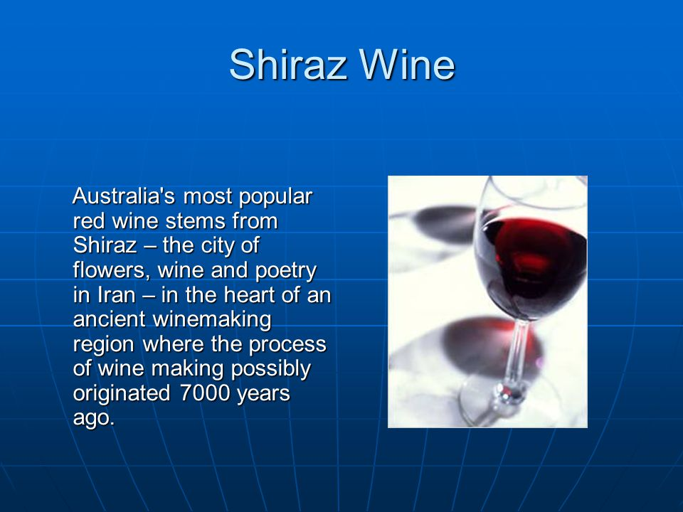 Shiraz Wine