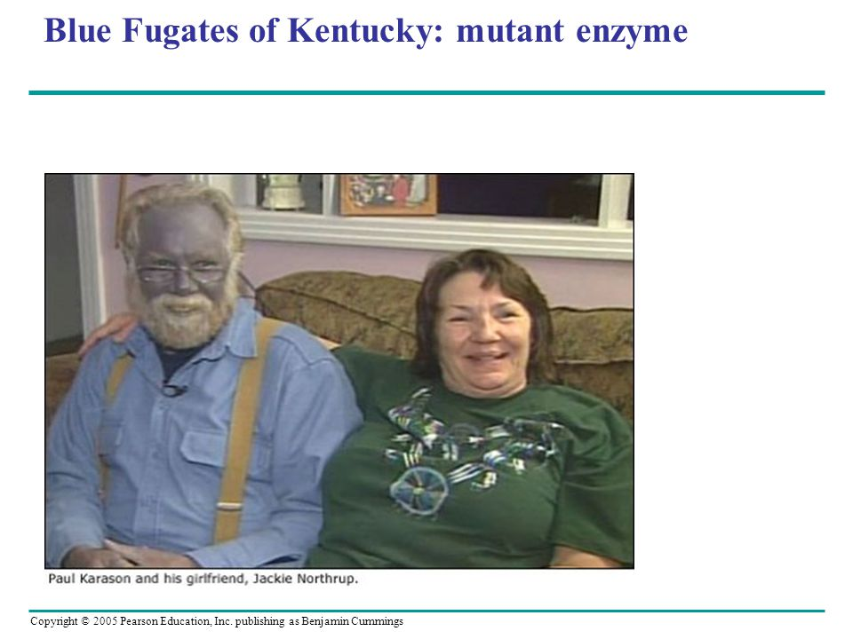 Blue Fugates of Kentucky: mutant enzyme